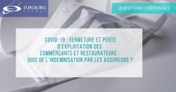 Coronavirus et indemnisation assurance restaurants